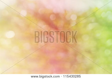 Glow Light Blow Natural Bokeh Pink Yellow Green Background