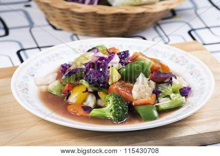 Stir Fried Mixed Vegetable