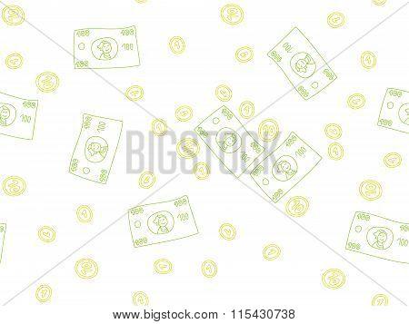 Money Doodle Pattern