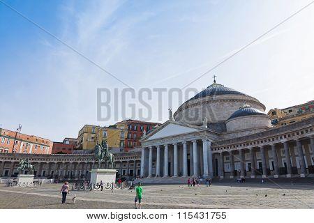 Basilica Of San Francesco Di Paola In Naples, Italy