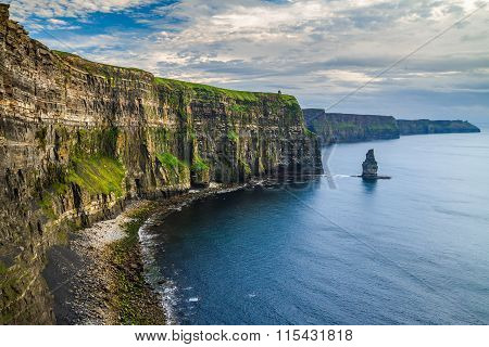 Cliffs of Moher at amazing sunset