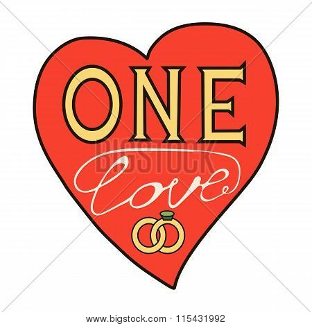 one love in the form of a heart