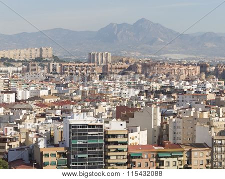 Alicante Top View Of The Residential Areas
