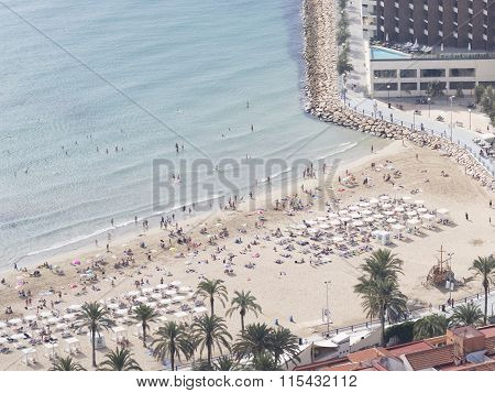 People On The Beach Of Costa Blanca