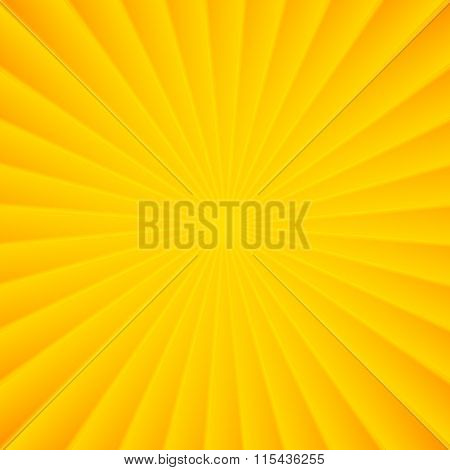 Yellow rays vector carnival background