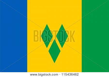 Standard Proportions For Saint Vincent And The Grenadines Flag