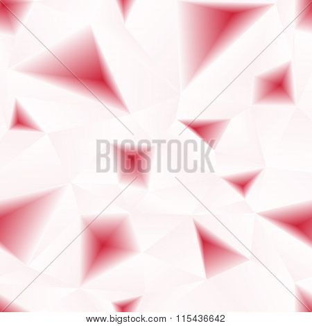 Vector red triangular holes abstract seamless pattern