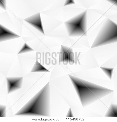 Vector triangular holes abstract seamless pattern