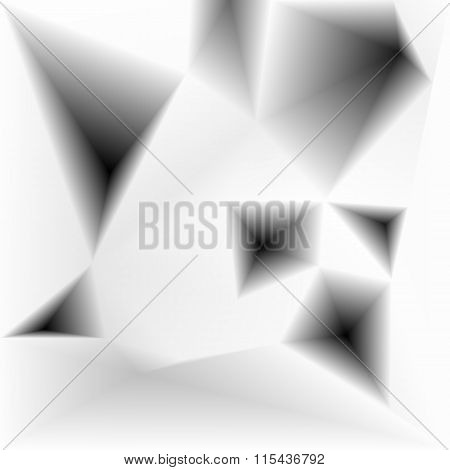 Vector abstract triangular holes monochrome background