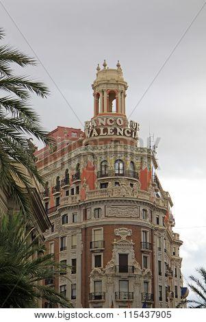 Valencia, Spain - August 26, 2012: The Plaza Del Ayuntamiento - Main Square Of Valencia