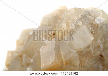 White Calcite Mineral