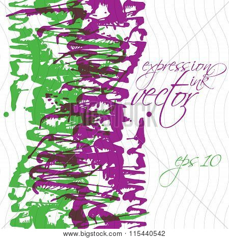 Bright Splattered Web Design Repeat Pattern, Art Ink Blob, Paintbrush Drawing. Graphic Colorful