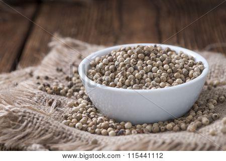 Portion Of White Peppercorns