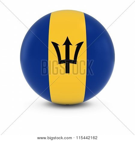 Barbadian Flag Ball - Flag Of Barbados On Isolated Sphere