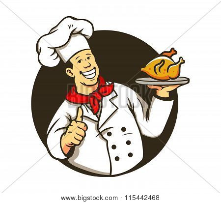 Chef Cooking Fried Chicken