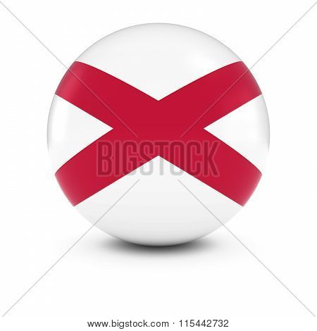Northern Irish Flag Ball - Flag Of Northern Ireland On Isolated Sphere