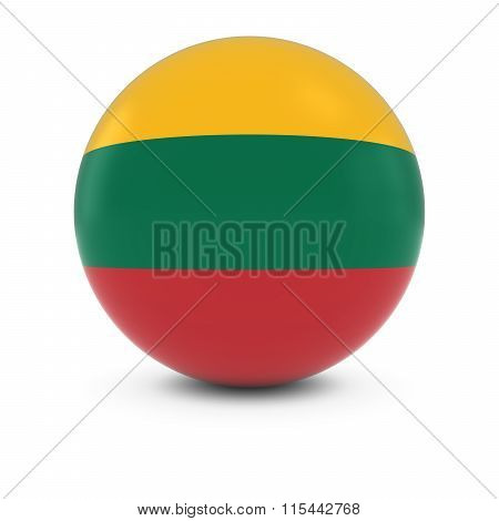 Lithuanian Flag Ball - Flag Of Lithuania On Isolated Sphere
