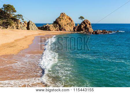 Mar Menuda Beach In Tossa De Mar, Costa Brava, Catalonia