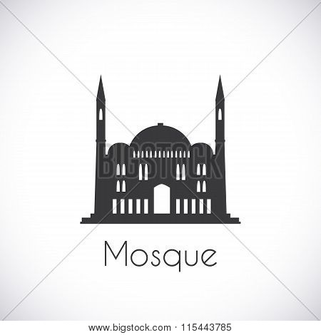 Mosque. Single flat icon on white background