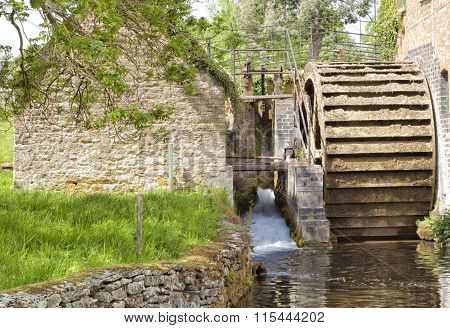 Old water mill in English village