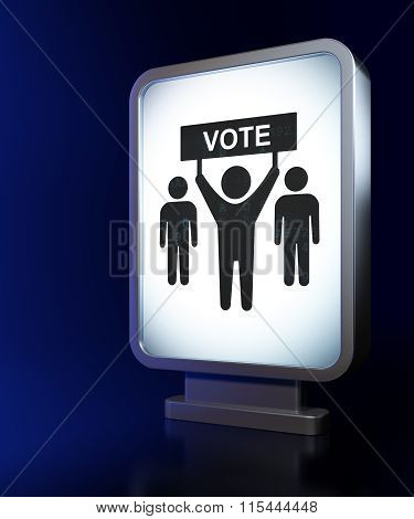 Political concept: Election Campaign on billboard background