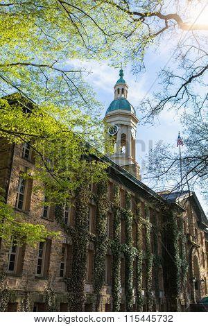 Nassau Hall in Princeton University, USA.