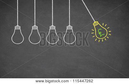 Finance Idea Bulb Choose
