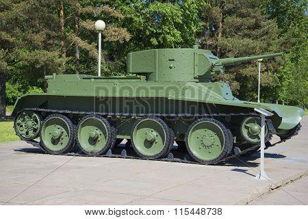 Soviet tank BT-5, Leningrad region