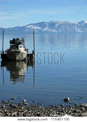 Boat in Lake Tahoe
