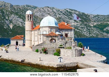 Island Of Our Lady On Reef In Bay Of Kotor