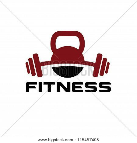 Kettlebell And Barbell Vector Design Template