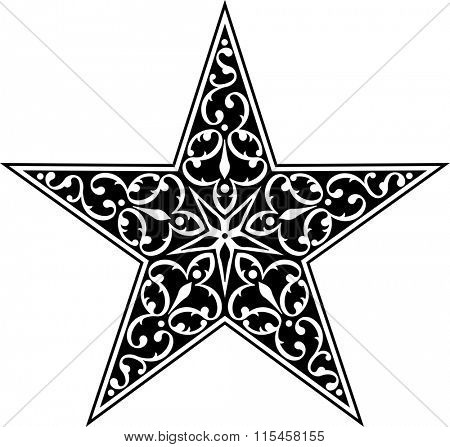 Tattoo Star Symbol Vector Illustration