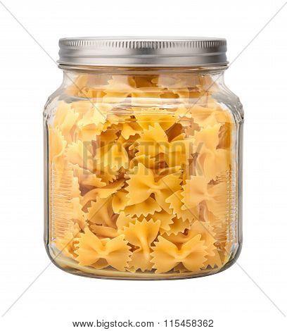Farfalle Bow Tie Pasta In A Glass Jar