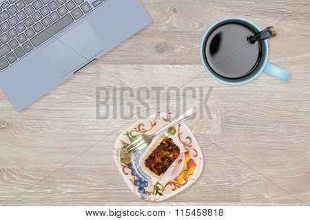 Hero Header Image Of Tidy Desktop With Snack