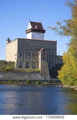 Hermann castle sunny september day. Estonia