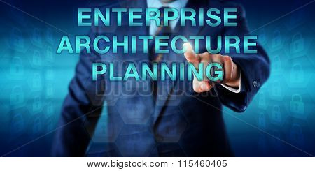 Manager Touching Enterprise Architecture Planning