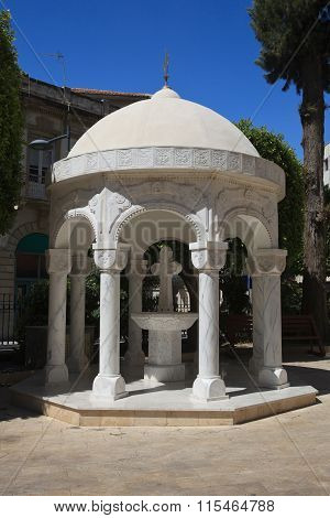 Gazebo Dome Building In Agia Napa Greek Orthodox Cathedral In Limassol