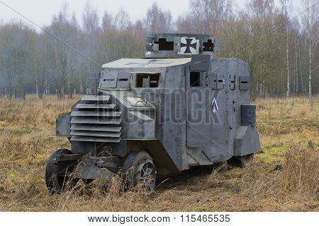 German armored car Ehrhardt E-V/4 at the historic festival