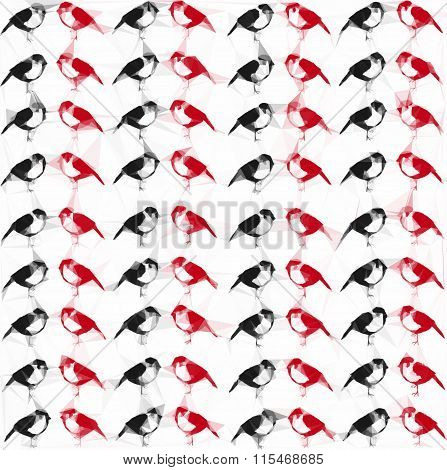 Sparrows  background (pattern)