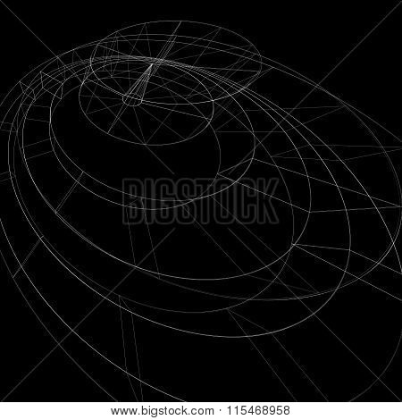 Geometric Dark Technology And Engineering Backdrop, Graphic Abstraction With Lines Mesh. Netting Bac