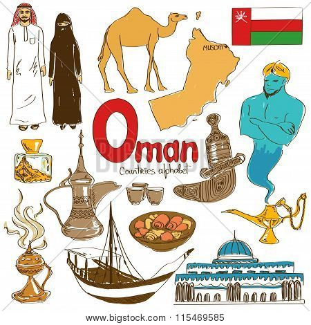 Collection Of Oman Icons.