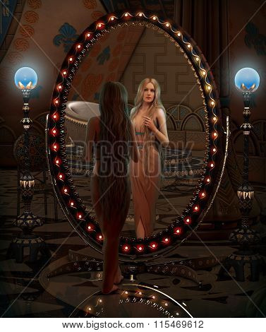 Looking In The Mirror, 3D Cg