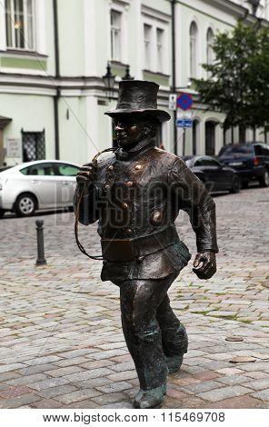 Monument chimneysweep.Tallinn, Estonia