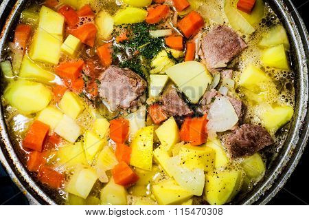 Stewed Meat With Potato And Carrot..