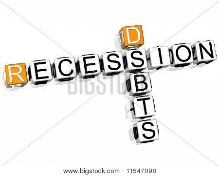 Recession Debts Crossword