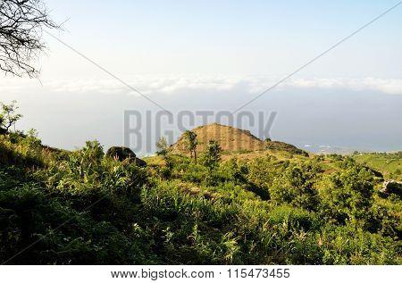Mountain Peak Under Ribeira Filipe