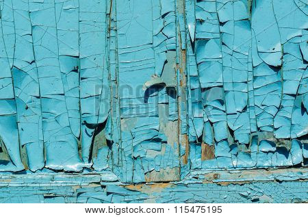 blue cracked grunge abstract background