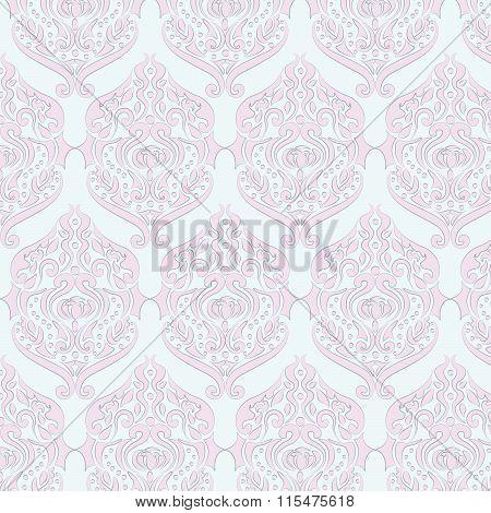 Classic style damask ornament pattern