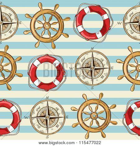 Nautical Seamless Pattern.