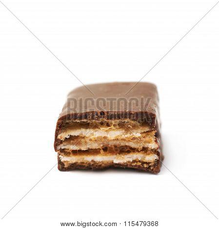 Chocolate coated waffle candy
